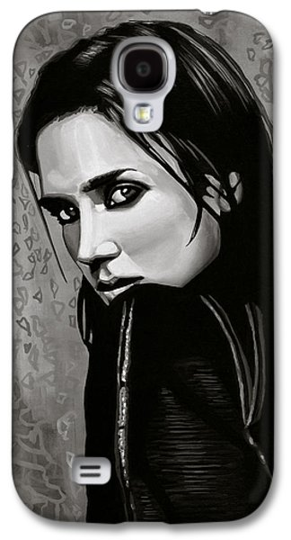 Jennifer Connelly Painting Galaxy S4 Case by Paul Meijering
