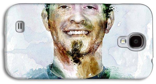 Jeremy Galaxy S4 Cases - Jeremy Affeldt watercolor Galaxy S4 Case by Marian Voicu