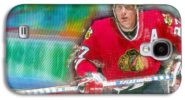 Jeremy Galaxy S4 Cases - Jeremy Roenick Chicago Blackhawks  Galaxy S4 Case by Tony Rubino