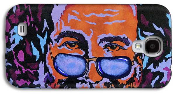 Gallery Paintings Galaxy S4 Cases - Jerry Garcia-Its A Me Thing Galaxy S4 Case by Bill Manson