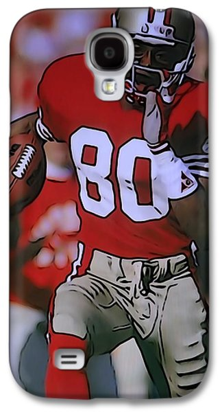 Wide Receiver Galaxy S4 Cases - Jerry Rice Galaxy S4 Case by Dan Sproul
