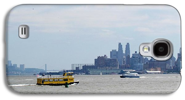 Architecture Tapestries - Textiles Galaxy S4 Cases - Jersey City  ferry NYC Galaxy S4 Case by Ted Pollard