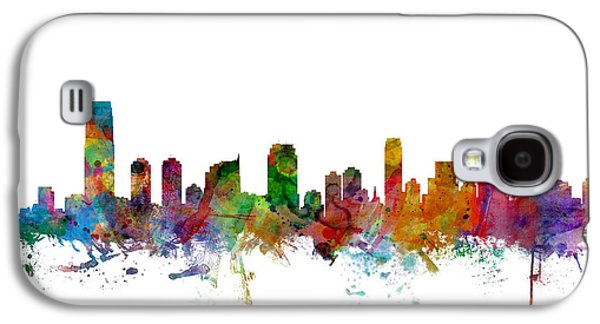 New Jersey Galaxy S4 Cases - Jersey City New Jersey Skyline Galaxy S4 Case by Michael Tompsett