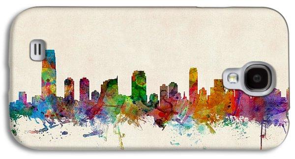 Jersey City Skyline Galaxy S4 Case by Michael Tompsett