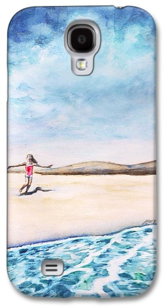 Bruce Springsteen Paintings Galaxy S4 Cases - Jersey Girl Galaxy S4 Case by Mary Fanning