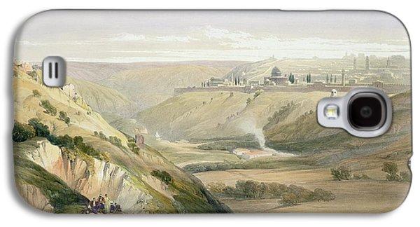 Jerusalem Paintings Galaxy S4 Cases - Jerusalem April 5th 1839 Galaxy S4 Case by David Roberts