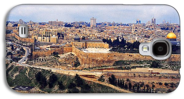 Best Sellers -  - Ancient Galaxy S4 Cases - Jerusalem from Mount Olive Galaxy S4 Case by Thomas R Fletcher