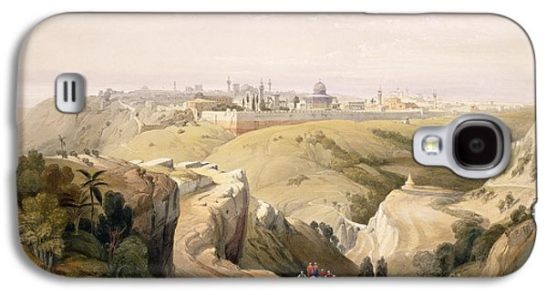 Orientalists Galaxy S4 Cases - Jerusalem from the Mount of Olives Galaxy S4 Case by David Roberts