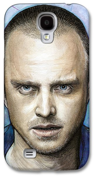 Drawing Mixed Media Galaxy S4 Cases - Jesse Pinkman - Breaking Bad Galaxy S4 Case by Olga Shvartsur