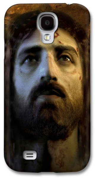 Face Digital Galaxy S4 Cases - Jesus Alive Again Galaxy S4 Case by Ray Downing
