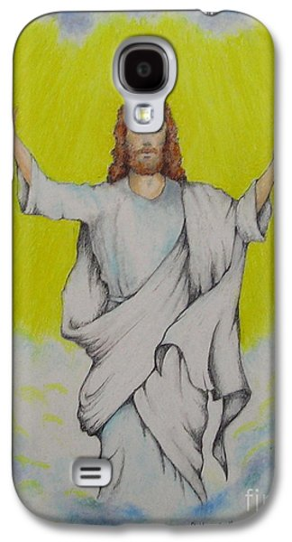 Jesus Pastels Galaxy S4 Cases - Jesus Ascending Galaxy S4 Case by Catherine Howley