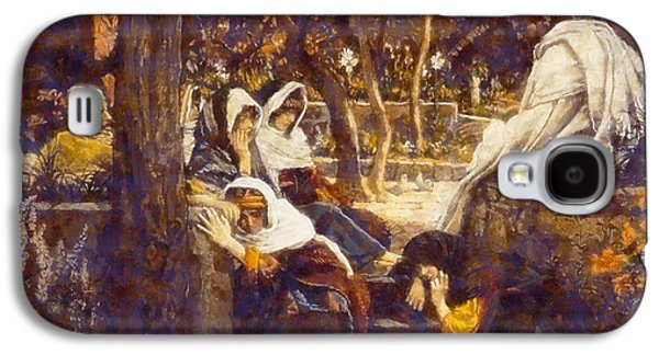 Garden Scene Galaxy S4 Cases - Jesus At bethany Galaxy S4 Case by James Tissot