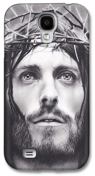Blood Drawings Galaxy S4 Cases - Jesus Galaxy S4 Case by Brittni DeWeese