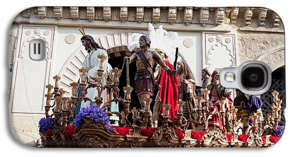 Wooden Platform Galaxy S4 Cases - Jesus Christ and Roman Soldiers on Procession Galaxy S4 Case by Artur Bogacki