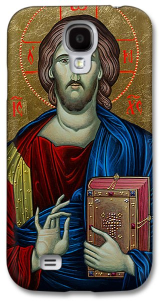 Greek Icon Paintings Galaxy S4 Cases - Jesus Christ Galaxy S4 Case by Claud Religious Art