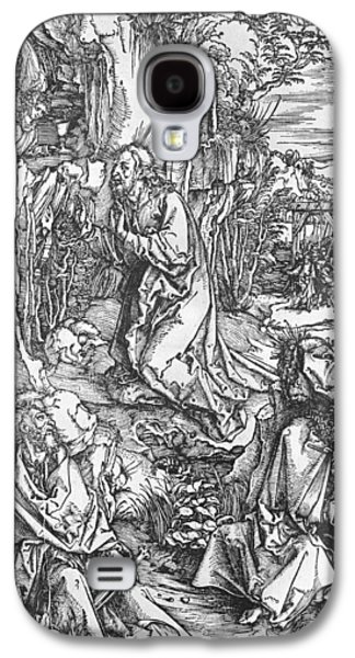 Saviour Drawings Galaxy S4 Cases - Jesus Christ on the Mount of Olives Galaxy S4 Case by Albrecht Durer or Duerer