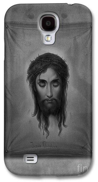Jesus Christ Icon Galaxy S4 Cases - Jesus Christus Galaxy S4 Case by Edward Fielding