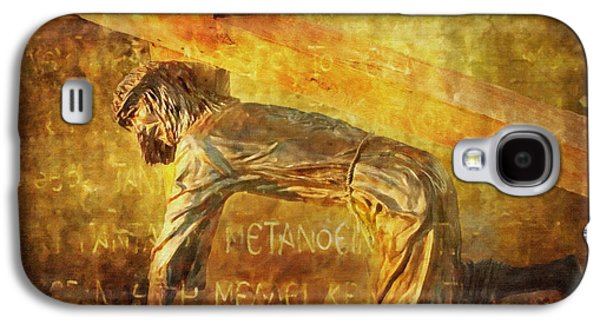 Lianne_schneider Via Dolorosa Print Digital Art Galaxy S4 Cases - Jesus Falls Again Via Dolorosa 7 Galaxy S4 Case by Lianne Schneider
