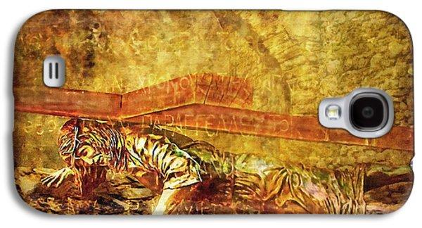 Lianne_schneider Via Dolorosa Print Digital Art Galaxy S4 Cases - Jesus Falls Third Time Via Dolorosa 9 Galaxy S4 Case by Lianne Schneider