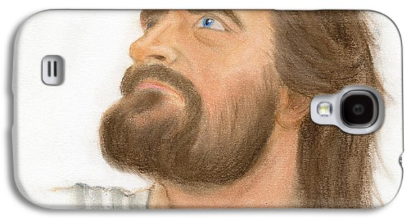 Jesus Pastels Galaxy S4 Cases - Jesus Galaxy S4 Case by Harry Speese