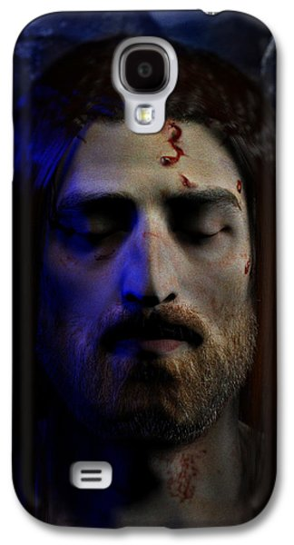 Ray Downing Galaxy S4 Cases - Jesus in Death Galaxy S4 Case by Ray Downing