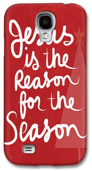 Religious Galaxy S4 Cases - Jesus Is The Reason For The Season- greeting card Galaxy S4 Case by Linda Woods