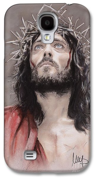Jesus Pastels Galaxy S4 Cases - Jesus  Galaxy S4 Case by Melanie D
