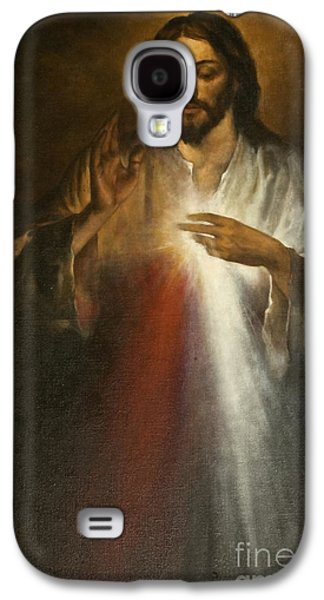 Praying Hands Galaxy S4 Cases - Jesus of Divine Mercy Galaxy S4 Case by Dan Radi