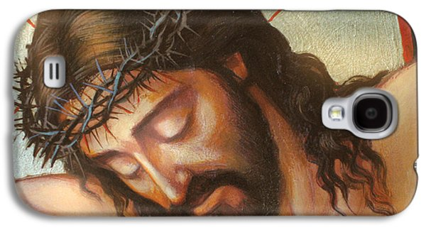 Religious Galaxy S4 Cases - Jesus On The Cross Variant 2 Galaxy S4 Case by Zorina Baldescu