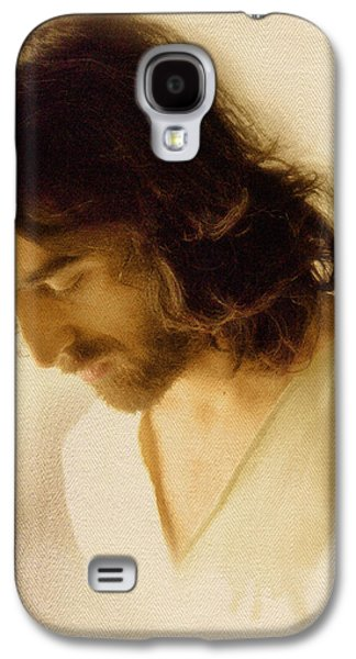 Face Digital Galaxy S4 Cases - Jesus Praying Galaxy S4 Case by Ray Downing