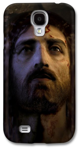 Jesus Digital Art Galaxy S4 Cases - Jesus Resurrected Galaxy S4 Case by Ray Downing