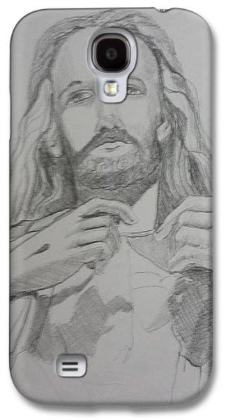 Statue Portrait Drawings Galaxy S4 Cases - Jesus Galaxy S4 Case by Rosemary Kavanagh