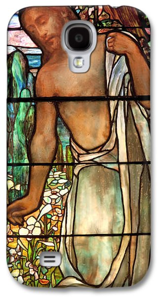 Religious Glass Art Galaxy S4 Cases - Jesus Stained Art - St Pauls Episcopal Church Selma Alabama Galaxy S4 Case by Mountain Dreams