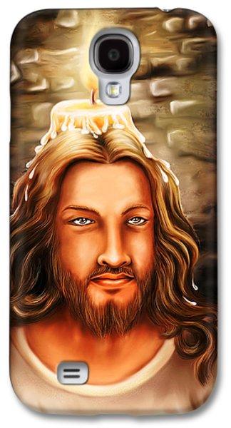 Incarnation Galaxy S4 Cases - Jesus- The Candle Light Galaxy S4 Case by Arun Sivaprasad