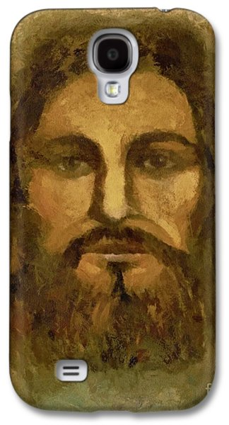 Bible Pastels Galaxy S4 Cases - Jesus The Shroud of Turin Galaxy S4 Case by Lance Sheridan-Peel