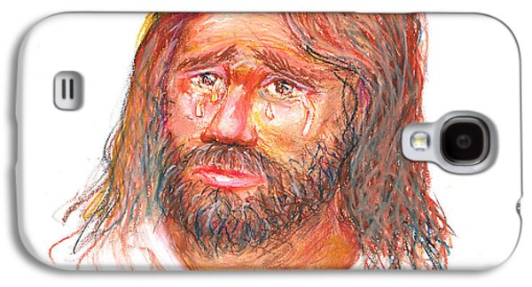 Torn Pastels Galaxy S4 Cases - Jesus wept Galaxy S4 Case by David Zamudio