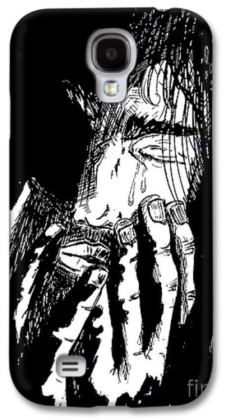 Weeping Drawings Galaxy S4 Cases - Jesus Wept Galaxy S4 Case by Justin Moore
