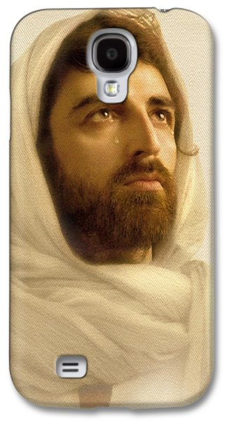Face Digital Galaxy S4 Cases - Jesus Wept Galaxy S4 Case by Ray Downing