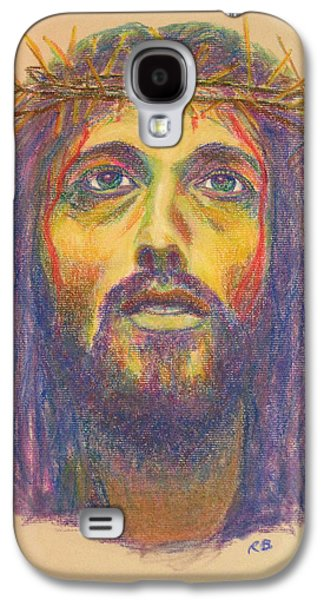 Jesus Pastels Galaxy S4 Cases - Jesus with Thorns Galaxy S4 Case by Robie Benve