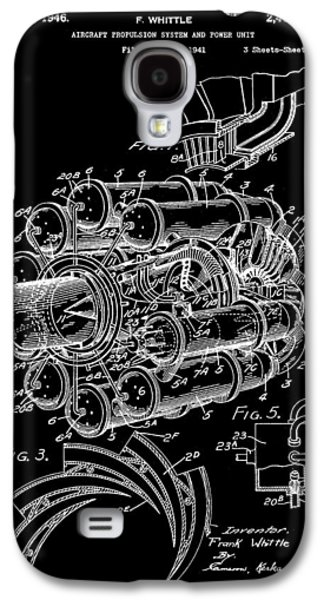 Mechanism Galaxy S4 Cases - Jet Engine Patent 1941 - Black Galaxy S4 Case by Stephen Younts