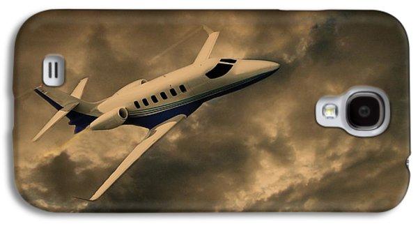 Jet Through The Clouds Galaxy S4 Case by David Dehner
