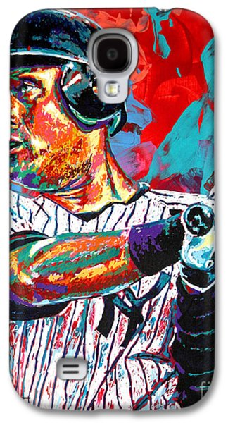 Arango Galaxy S4 Cases - Jeter at Bat Galaxy S4 Case by Maria Arango