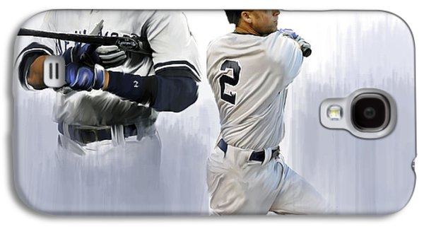 New Drawings Galaxy S4 Cases - Jeter V Derek Jeter Galaxy S4 Case by Iconic Images Art Gallery David Pucciarelli