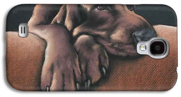 Dogs Pastels Galaxy S4 Cases - Jethro Galaxy S4 Case by Cynthia House