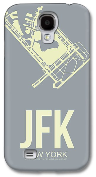 Town Mixed Media Galaxy S4 Cases - JFK Airport Poster 1 Galaxy S4 Case by Naxart Studio