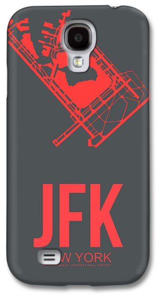 Town Mixed Media Galaxy S4 Cases - JFK Airport Poster 2 Galaxy S4 Case by Naxart Studio