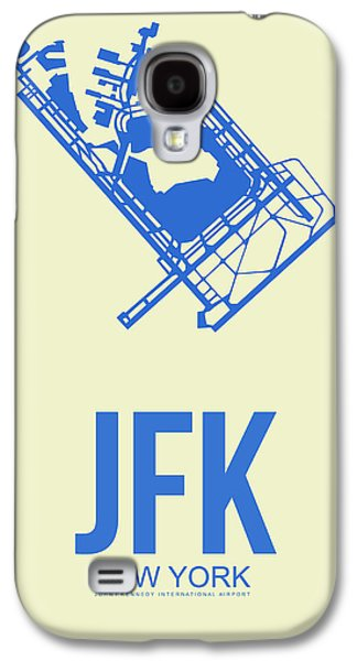 News Mixed Media Galaxy S4 Cases - JFK Airport Poster 3 Galaxy S4 Case by Naxart Studio