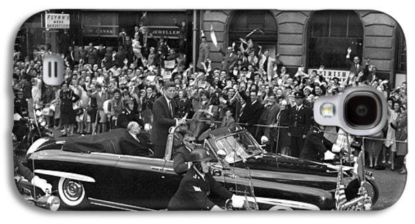 Cheer On Galaxy S4 Cases - JFK Cavalcade Dublin 1963 Galaxy S4 Case by Irish Photo Archive