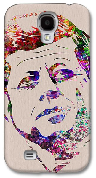 Civil Rights Galaxy S4 Cases - JFK Watercolor Galaxy S4 Case by Naxart Studio