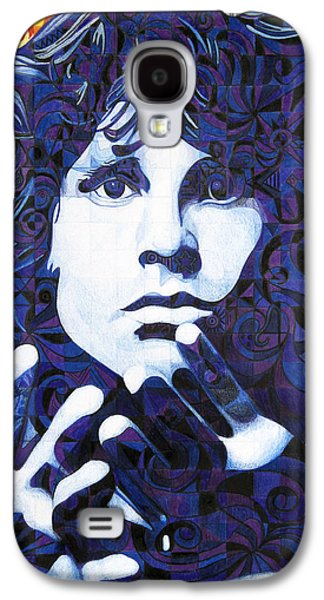 Icon Drawings Galaxy S4 Cases - Jim Morrison Chuck Close Style Galaxy S4 Case by Joshua Morton